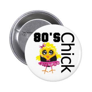 Poussin 80s drôle badges avec agrafe