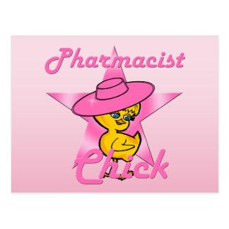 Poussin #8 de pharmacien carte postale