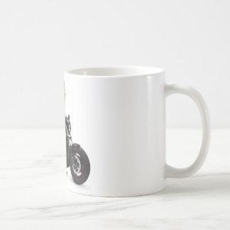 Poussin de cycliste de perroquet sur Harley Davids Mugs