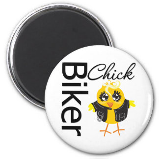 Poussin de cycliste magnet rond 8 cm