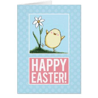 Poussin heureux de Pâques - cartes de Personalizab cartes