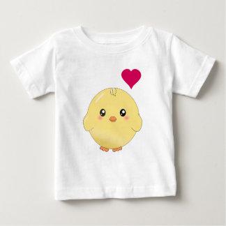 Poussin jaune mignon t-shirt pour bébé