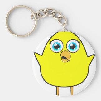Poussin jaune porte-clé rond