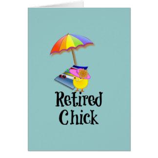 Poussin retiré, humour de retraite cartes de vœux
