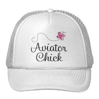 Poussin rose mignon d'aviateur casquette