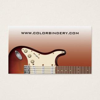 Poussoir de guitare - carte de visite électrique