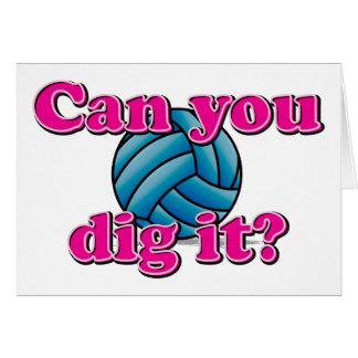 Pouvez-vous le creuser ? Volleyball ! Carte De Vœux