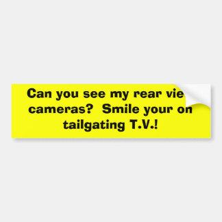 Pouvez-vous voir mes appareils-photo de vue arrièr autocollant pour voiture