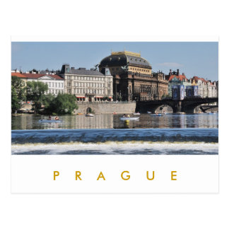 Prague - théâtre national carte postale