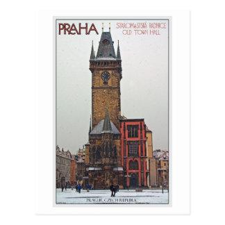 Prague - vieux hôtel de ville carte postale