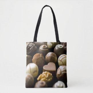 Pralines délicieuses de chocolat sac