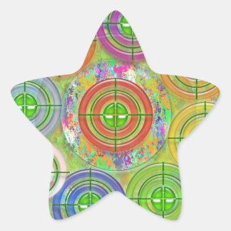 Pratique en matière de cible d'ART101 Red Bull Sticker Étoile