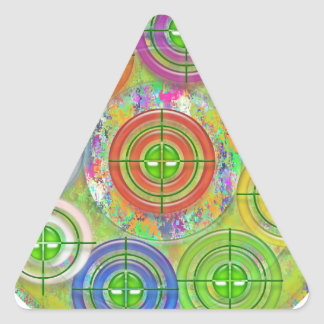 Pratique en matière de cible d'ART101 Red Bull Sticker Triangulaire