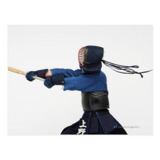 Pratique en matière d'escrimeur de Kendo Carte Postale