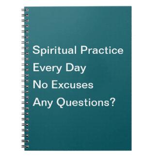 Pratique spirituelle chaque carnet de jour