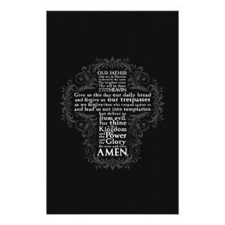 """Prayer"""" """"cadeau chrétien Jésus de """"notre père"""" Papier À Lettre Customisable"""