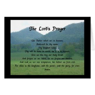 Prayer de seigneur à la vallée de fourchette de carte de vœux