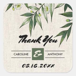 Pré, autocollants botaniques de Merci de mariage
