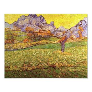 Pré de Van Gogh en montagnes : Le Mas de Saint Carton D'invitation 10,79 Cm X 13,97 Cm