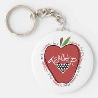Pré rouge Apple de professeur de K Porte-clé Rond