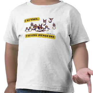 Précaution : Pingouins en baisse T-shirts