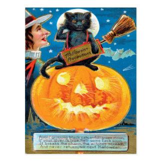 Précautions de Hallowe'en Cartes Postales