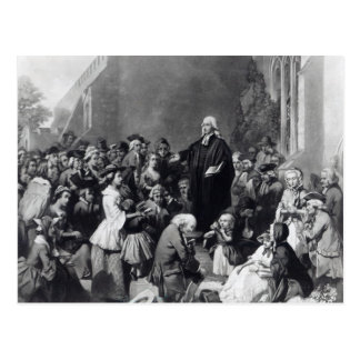 Prédication de John Wesley Carte Postale