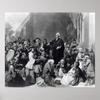 Prédication de John Wesley Posters