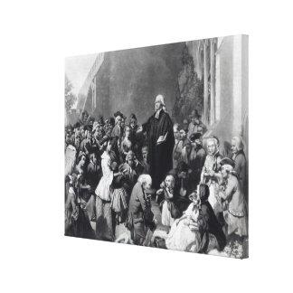 Prédication de John Wesley Toiles