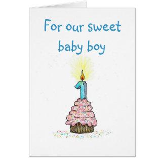 Premier anniversaire de carte de parents