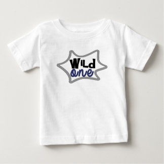 Premier anniversaire de garçon, le sauvage, t-shirt pour bébé