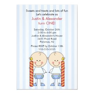 Carte D Invitation Anniversaire Pour Jumeaux Cartes