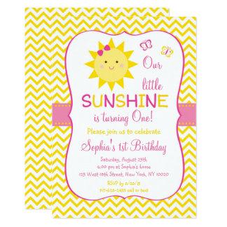 Premier anniversaire de soleil mignon carton d'invitation  12,7 cm x 17,78 cm