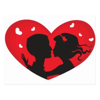 Premier baiser cartes postales