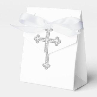 Premier baptême d'argent et de communion de blanc boites faveurs de mariage