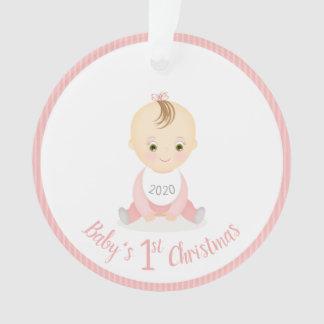 Premier bébé de Noël du bébé et son mobile