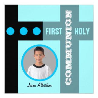 Premier bleu 2 d invitation de sainte communion