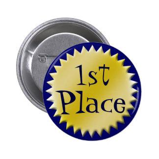 Premier bouton de récompense d'endroit, personnali pin's