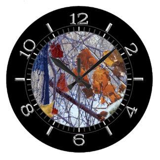 Premier cadran de style de camouflage d'hiver de grande horloge ronde