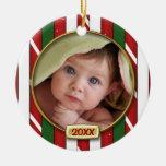 Premier cadre de photo de Noël du bébé Décorations Pour Sapins De Noël