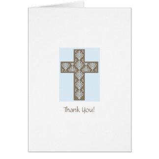 Premier carte de remerciements de communion
