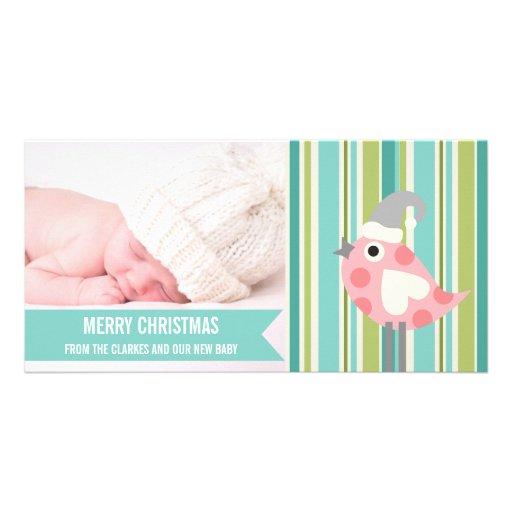 Premier carte photo de Noël de bébé en bon état mi Cartes Avec Photo