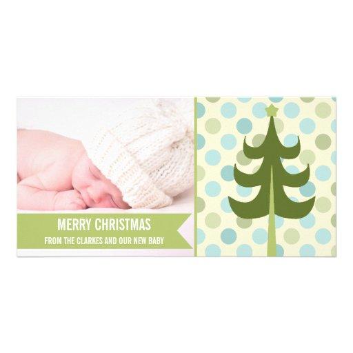 Premier carte photo de Noël de chaux de bébé migno Photocarte