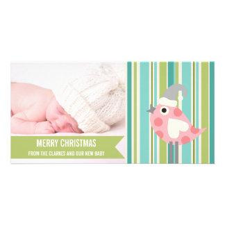 Premier carte photo de Noël de chaux de bébé migno Cartes De Vœux Avec Photo