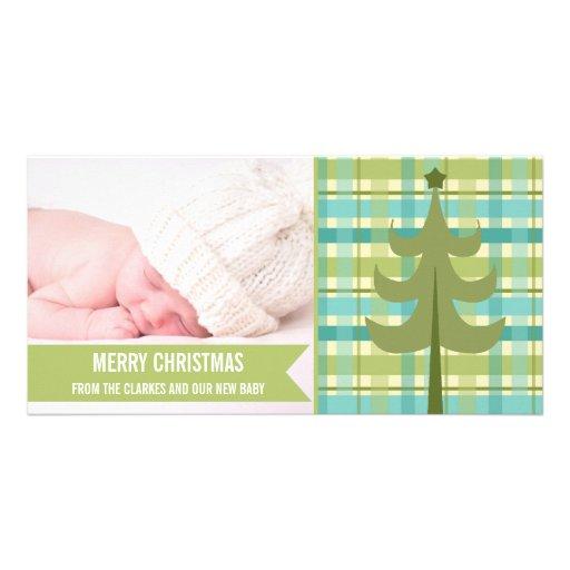 Premier carte photo de Noël de chaux de bébé migno Cartes Avec Photo