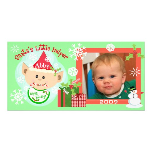 Premier carte photo de Noël du bébé fait sur comma Cartes De Vœux Avec Photo