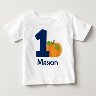 Premier citrouille d'automne de garçon t-shirt pour bébé