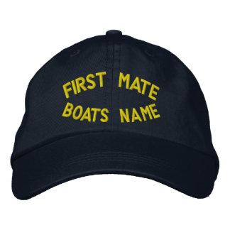 Premier compagnon avec votre nom de bateaux casquettes brodées
