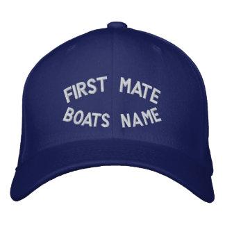 Premier compagnon avec votre nom de bateaux casquette brodée