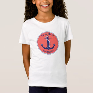 Premier compagnon d'ancre de corail nautique de T-Shirt